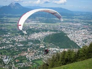 Der Biotech Paragleiter macht´s möglich: Salzburg einmal von oben betrachtet.